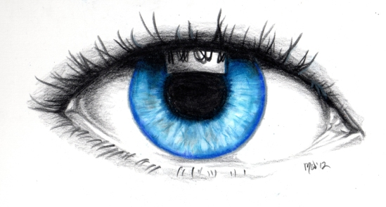 drawing of an eye in color
