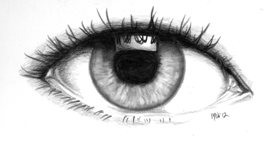 drawing of an eye