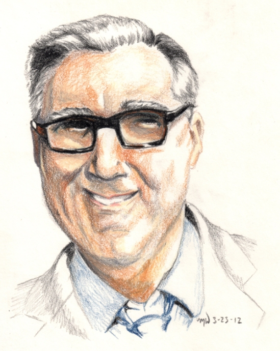 Keith Olbermann color drawing