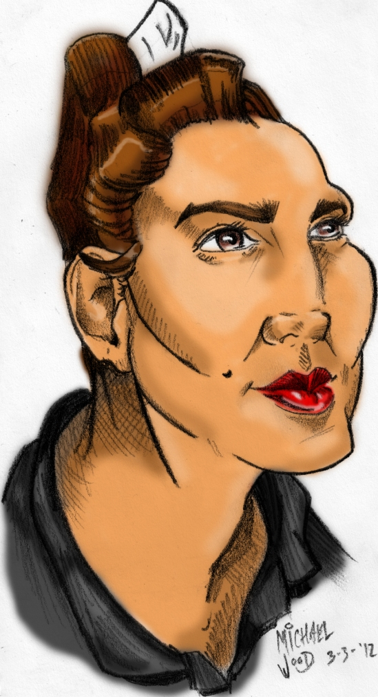 Kelly Wood Caricature Color